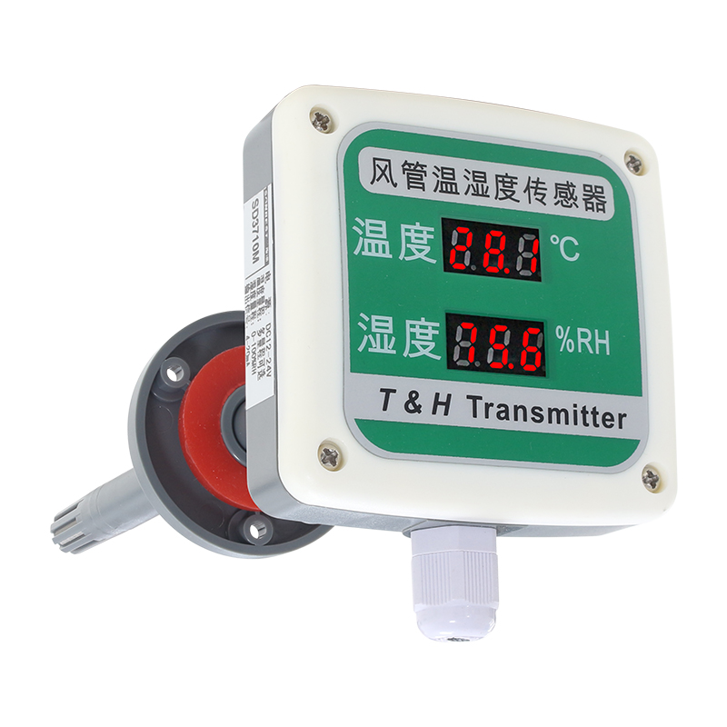 4-20mA LED duct type temperature and humidity transmitter