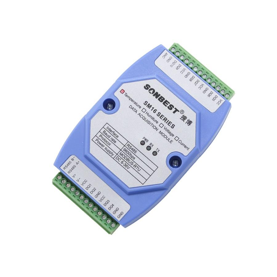 [SM1600B]RS485总线160点DS18B20温度采集模块