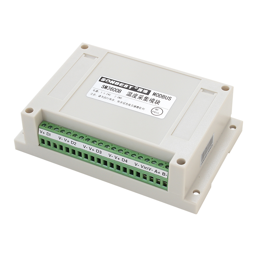 [SM3600B]RS485接口4通道80点DS18B20温度采集模块