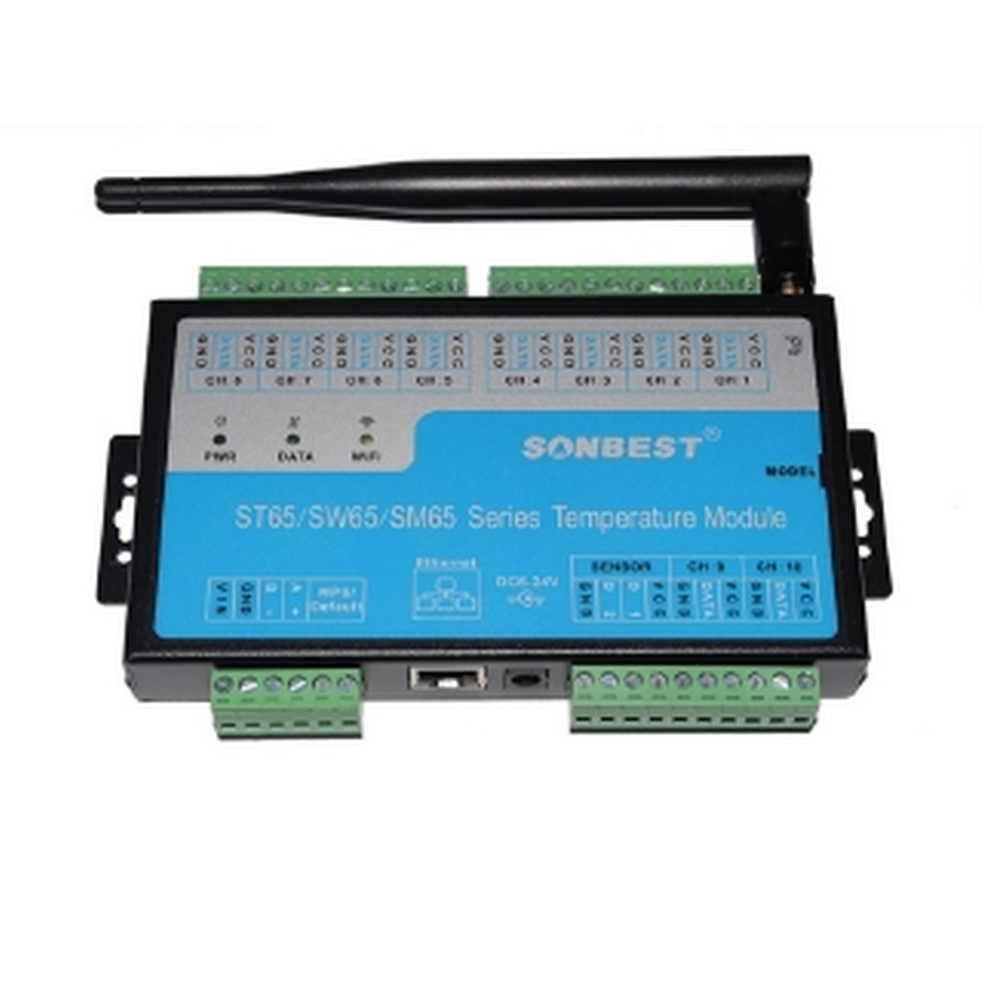 [SM6510T]WIFI无线工业级多通道温湿度采集模块