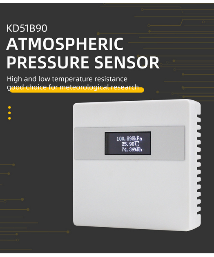 LCD integrated sensor for atmospheric pressure, temperature a