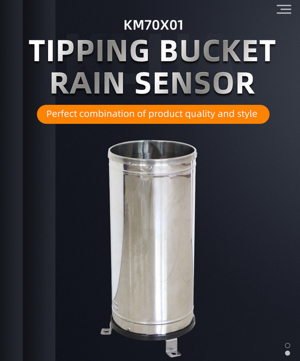 Zigbee tipping bucket type Stainless Steel Rain Sensor