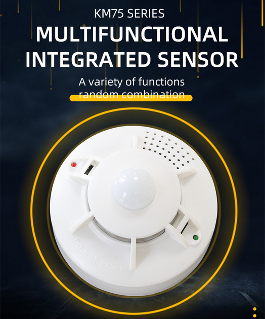 RS485 ceiling type temperature, humidity and noise sensor